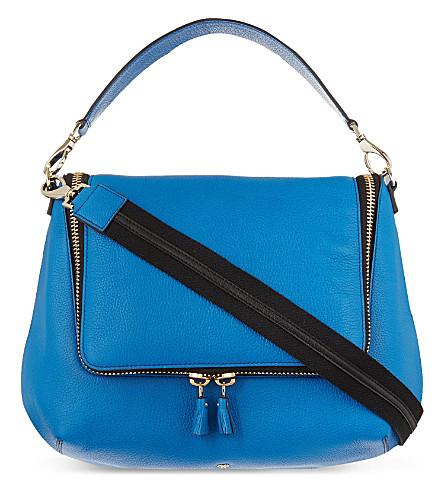 ANYA HINDMARCH Maxi zip satchel (Cobalt