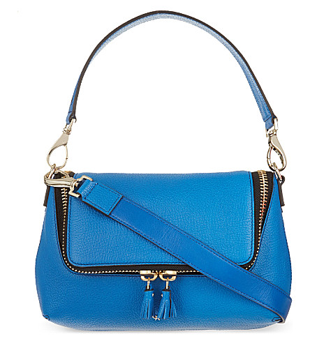 ANYA HINDMARCH Maxi zip cross-body bag (Cobalt
