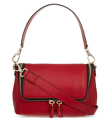 ANYA HINDMARCH Maxi zipped leather cross-body bag (Red
