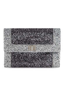 ANYA HINDMARCH Anthracite bi-colour Valorie clutch