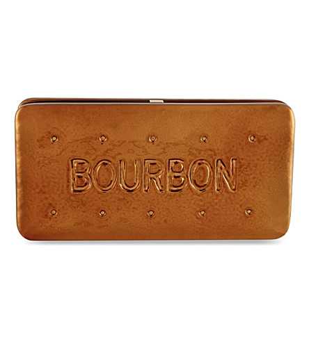 ANYA HINDMARCH Bourbon biscuit clutch (Bronze