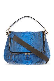 ANYA HINDMARCH Maxi zip python satchel