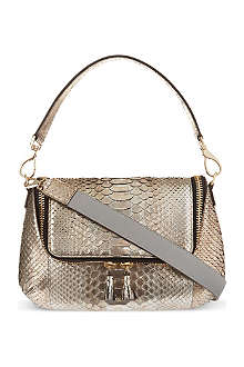 ANYA HINDMARCH Maxi zip python cross-body bag