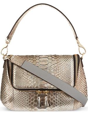 ANYA HINDMARCH Maxi zip python cross-body bag