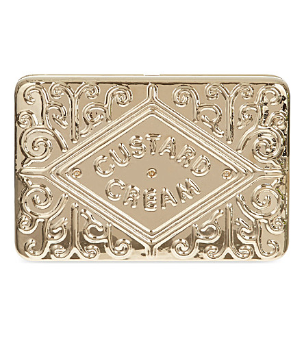 ANYA HINDMARCH Custard cream clutch (Gold