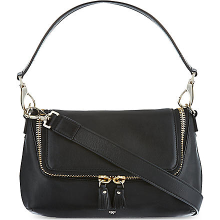 ANYA HINDMARCH Maxi zip cross-body bag (Black/grey