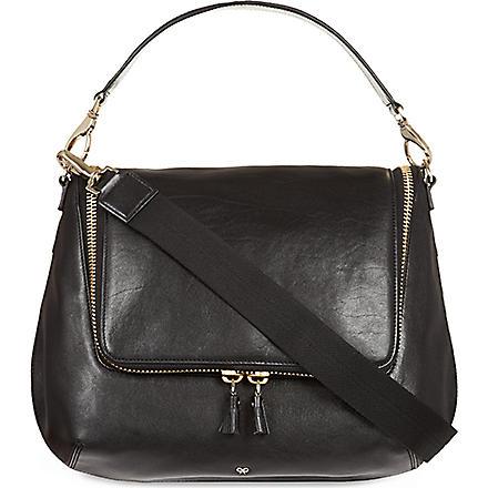 ANYA HINDMARCH Maxi zip satchel (Black/grey