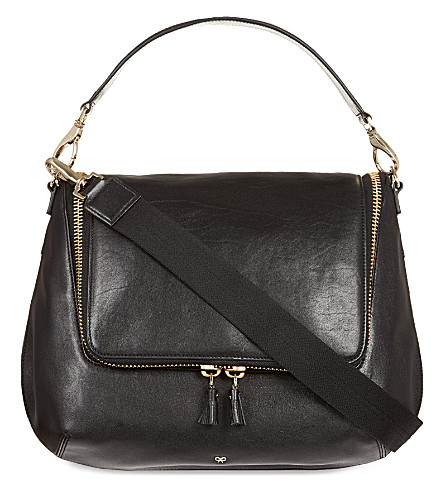 ANYA HINDMARCH Maxi zip satchel (Black/grey