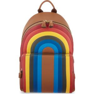 Rainbow leather backpack