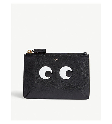 ANYA HINDMARCH Eye small leather pouch (Black