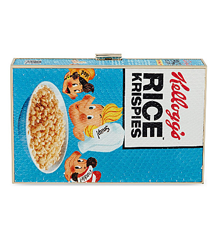 ANYA HINDMARCH Rice Krispies cereal clutch (White
