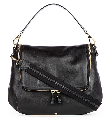 ANYA HINDMARCH Maxi Zip satchel (Black