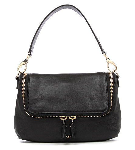 ANYA HINDMARCH Maxi Zip cross-body bag (Black