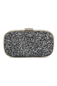 ANYA HINDMARCH Marano glitter-embellished framed clutch