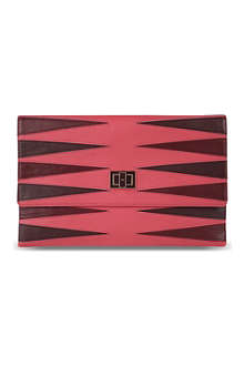 ANYA HINDMARCH Valorie backgammon leather clutch