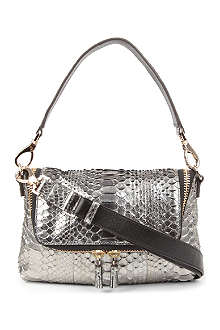 ANYA HINDMARCH Maxi Zip metallic python cross-body bag