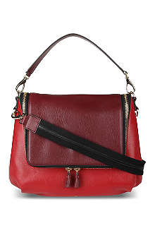ANYA HINDMARCH Two-tone leather satchel
