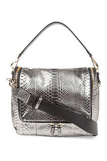 ANYA HINDMARCH Maxi Zip metallic python satchel