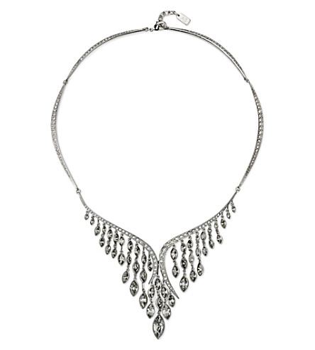 ATELIER SWAROVSKI Swift Swarovski-crystal embellished large necklace (Black diamond