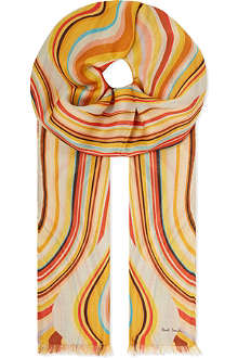 PAUL SMITH Swirl modal scarf