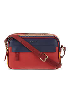 PAUL SMITH Colour blocked leather cross-body bag