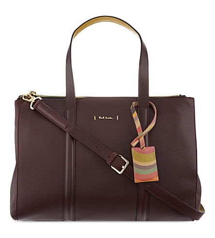PAUL SMITH Albermarle leather tote (Wine
