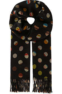 PAUL SMITH Swirl Spot scarf