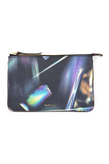 PAUL SMITH Sienna leather zipped pouch
