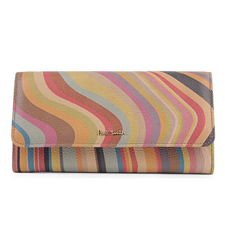PAUL SMITH Swirl leather wallet (Swirl