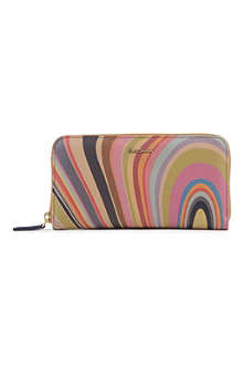 PAUL SMITH Swirl leather wallet