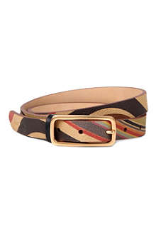 PAUL SMITH Swirl printed leather belt