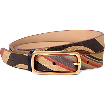 PAUL SMITH Swirl printed leather belt (Swirl