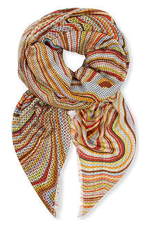 PAUL SMITH Patterned swirl modal scarf