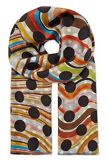 PAUL SMITH Double-sided silk scarf