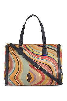 PAUL SMITH Swirl double zip tote