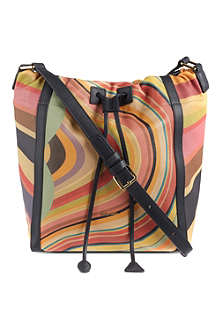 PAUL SMITH Swirl-print leather bucket bag
