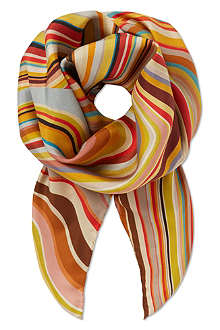 PAUL SMITH Swirl silk scarf