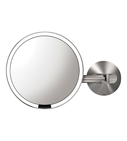 SIMPLE HUMAN 20cm rose gold-toned steel wall-mount sensor mirror