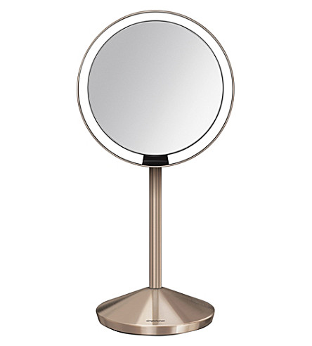 SIMPLE HUMAN 12cm rose gold-toned travel sensor mirror