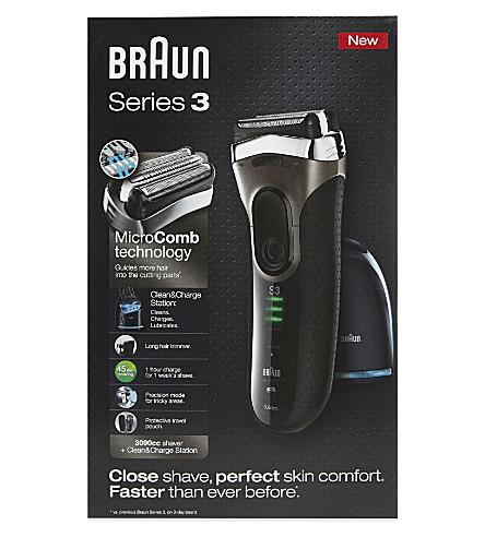 BRAUN 系列 3 清洁充电剃须刀