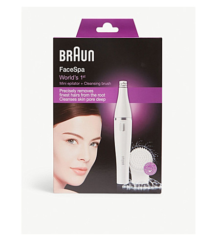 BRAUN Facespa epilator and cleansing brush