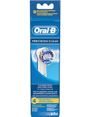 ORAL B Pack of four Oral-B Precision Clean replacement toothbrush heads