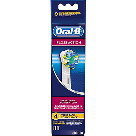 BRAUN Pack of four Oral-B Floss Action replacement toothbrush heads