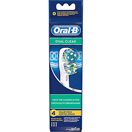 BRAUN Pack of four Oral-B dual-clean toothbrush heads