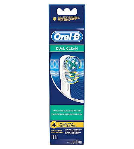 ORAL B Pack of four Oral-B dual-clean toothbrush heads