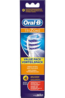 PHILIPS Oral-B Trizone replacement toothbrush heads pack of 4