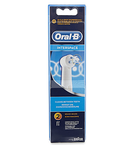ORAL B Interspace replacement heads two pack
