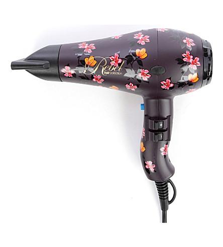 DIVA Rebel floral hair dryer