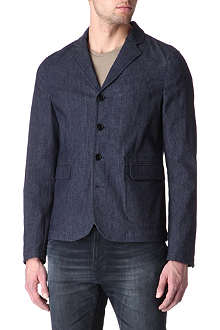 ACNE George indigo denim blazer