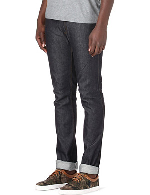 ACNE Max Soft Raw slim-fit tapered jeans